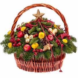 Christmas Joy in Basket