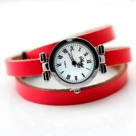 Розовые классические часы