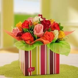Box of Bright Roses