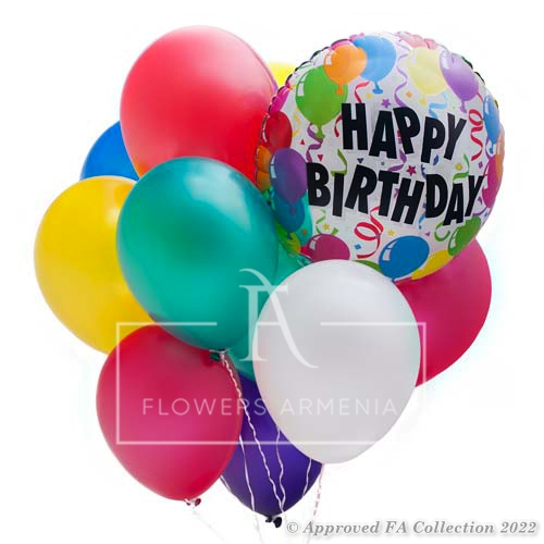 12 Colorful Birthday Balloons View Full Size Image
