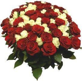 Red & White Roses Basket
