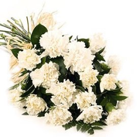 White Carnations Bouquet