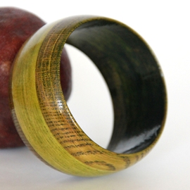 Green Wooden Bangle