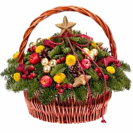 Christmas Joy in Basket