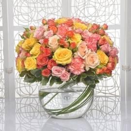 155 Roses in Vase
