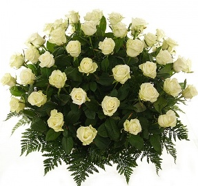 Basket of 77 White Roses