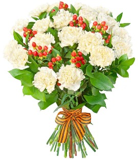 51 White Carnations Bouquet