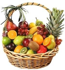 Big Basket of Various Fruits