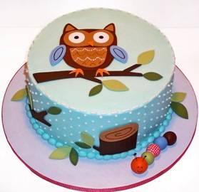 Funny Owl Cake