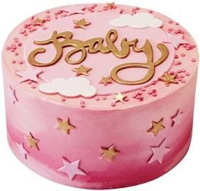 New baby girl cake