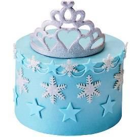 Tiara Tiers  Blue Cake