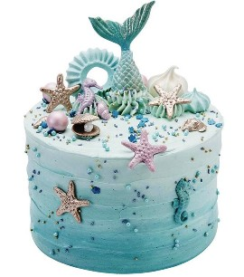 Sea animal cake
