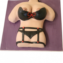 Woman Body Adult Cake