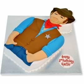 Cowboy western birthday cake