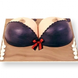 Bra Shaped Cake