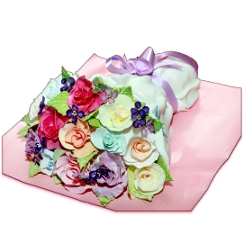 Cake of Sweet Roses Bouquet