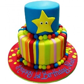 Colorful cake with star