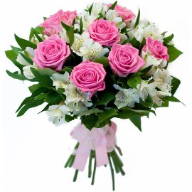 Classical Pink & White Bouquet