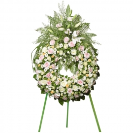 Bright Blessings Funeral Wreath