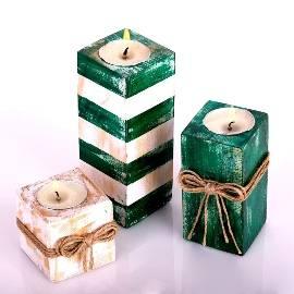 Зеленая коллекция свечей