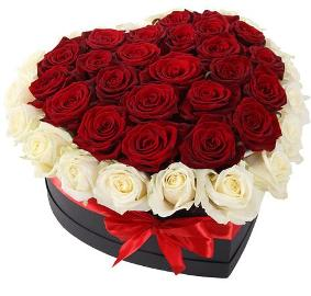 Heart Box Flowers