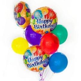 9 Цветных Воздушных Шаров на День Рождения
