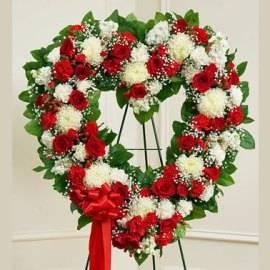 Elegant Heart-shaped Wreath
