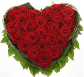 Enchanting Red Roses Heart