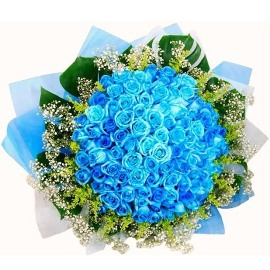 77 Blue Roses Bouquet