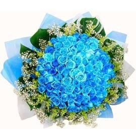 77 Blue Roses Bouquet