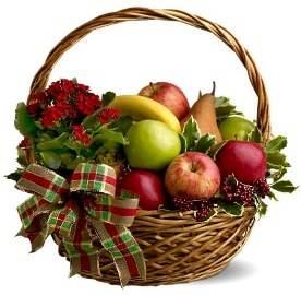 Праздничная корзина фруктов