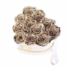 Цветочная коробка «Золотой Поцелуй»