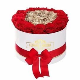 Цветочная коробка «История  любви»