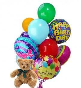 Teddy Bear & 12 Balloons