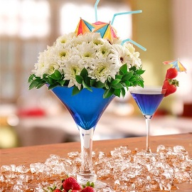 Floral Blue Cocktail