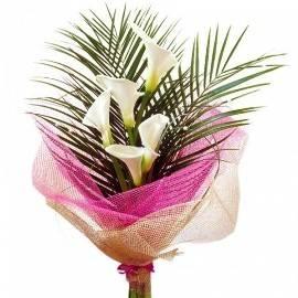 Callas & Palm Branches Bouquet