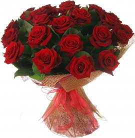 25 Red Roses Lovely Wrapped