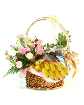 Fruits and Floral Basket