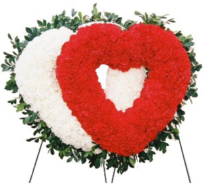 Grand Sympathy Wreath Heart