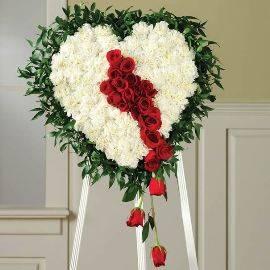 Heart-shaped Sympathy Wreath