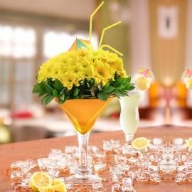Floral Lemonade Cocktail