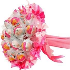 Розовый Киндер Букет