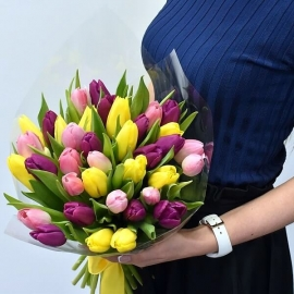 37 Colorful Tulips Corsage