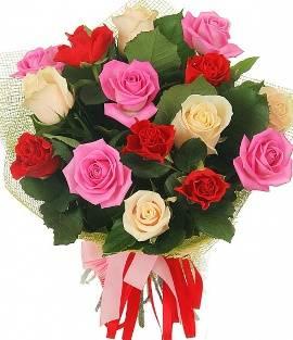 Festive Bouquet of Roses