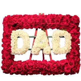 Name Wreath of 700 Roses