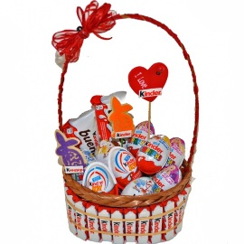 Gift Basket of 55 Kinder  Chocolates