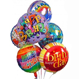 7 Birthday Balloons Bunch