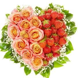 Strawberry Rose Heart