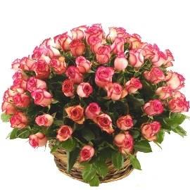 Розовый шик из 101 розы