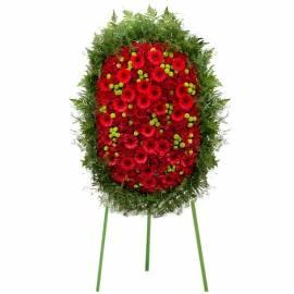 Red Funeral Arrangement